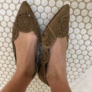 Tory Burch brown pointed flats